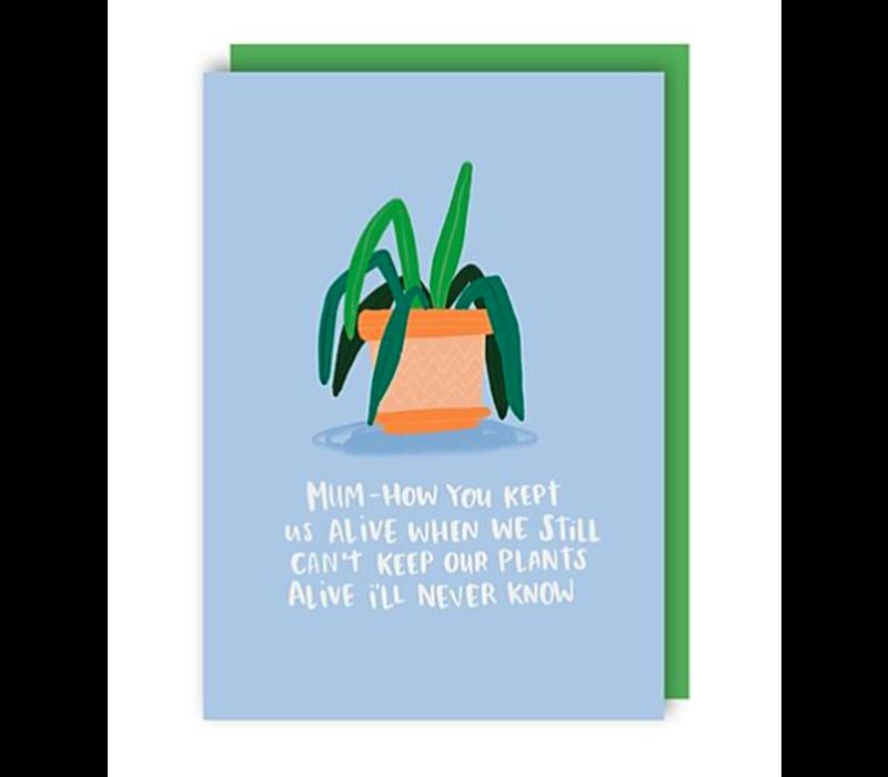Wenskaart Mum Plants