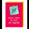 Lucy Maggie Designs Wenskaart Type on paper