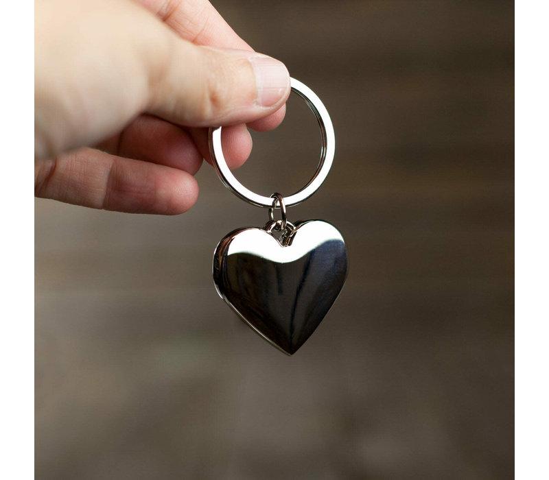 Sleutelhanger-hart-zilverkleurig