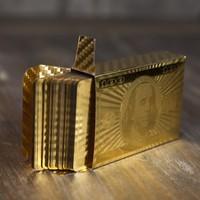 Speelkaarten- gouden dollars
