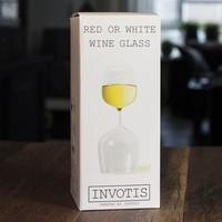 Wit en rood wijnglas