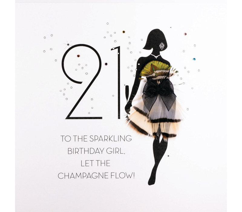 Verjaardagskaart voor 21 jaar