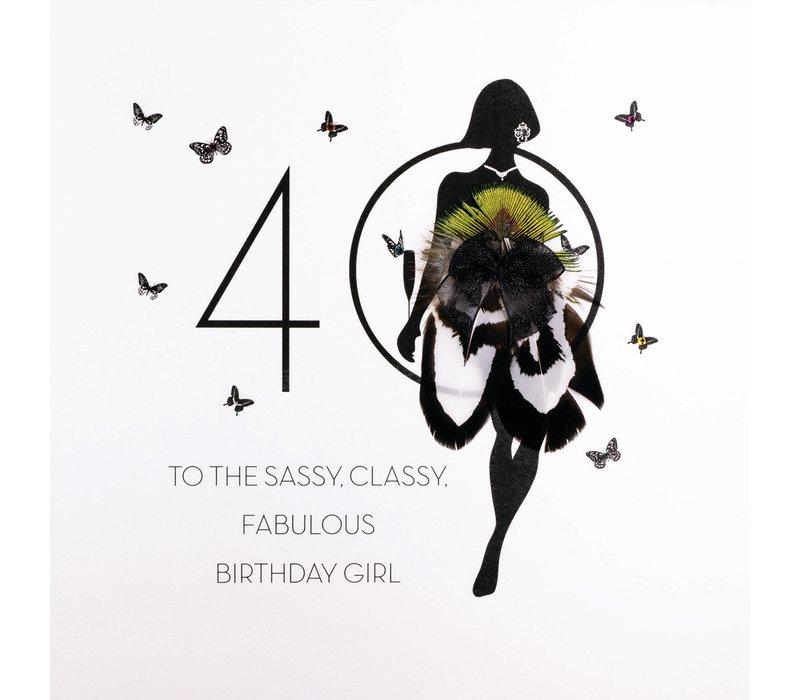 Wenskaart 40 Sassy Classy