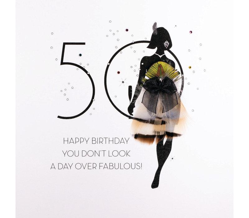 Wenskaart 50 Day Over fabulous