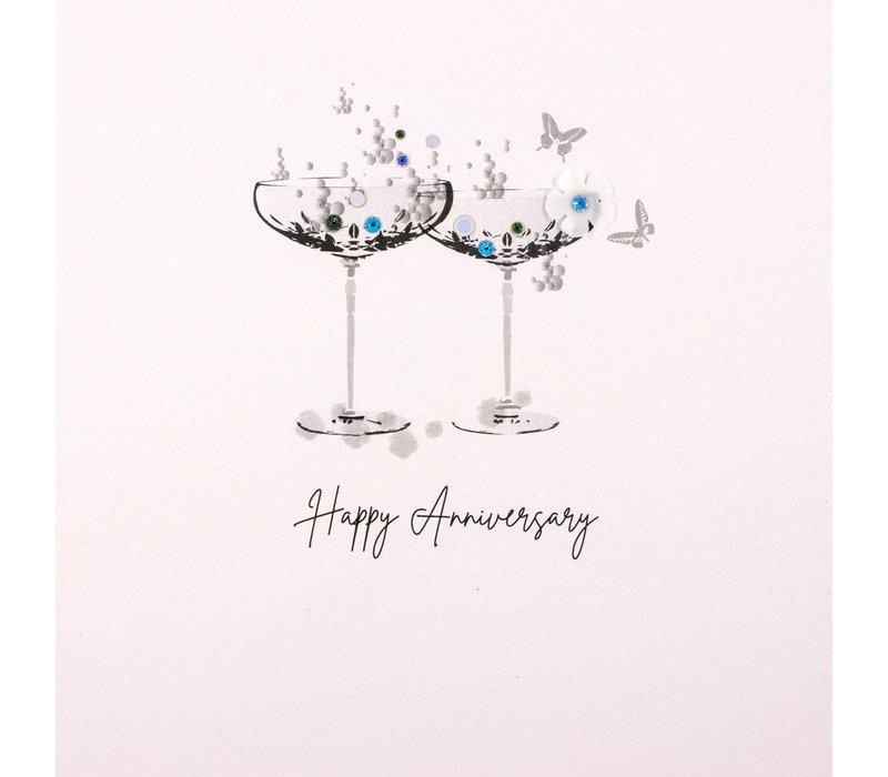 Wenskaart Happy anniversary