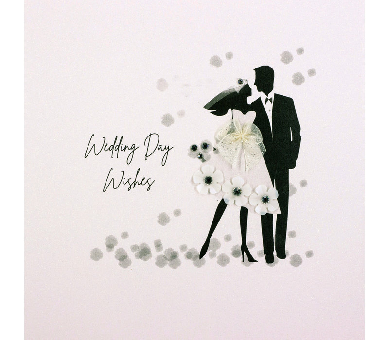 Wenskaart Wedding day wishes