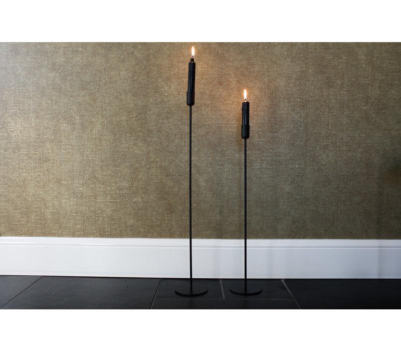 Ranke kaarsenstandaard zwart 60 cm