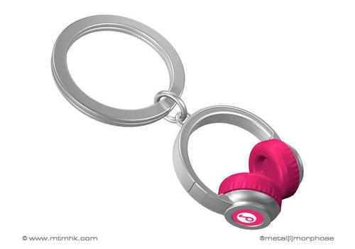 MTM Sleutelhanger koptelefoon rose