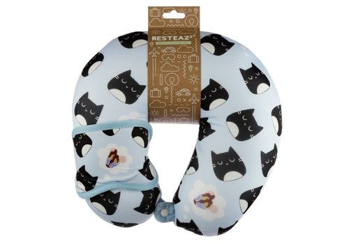 Puckator Reiskussen met oogmasker- Feline