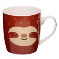 Beker met luiaard opdruk coffee