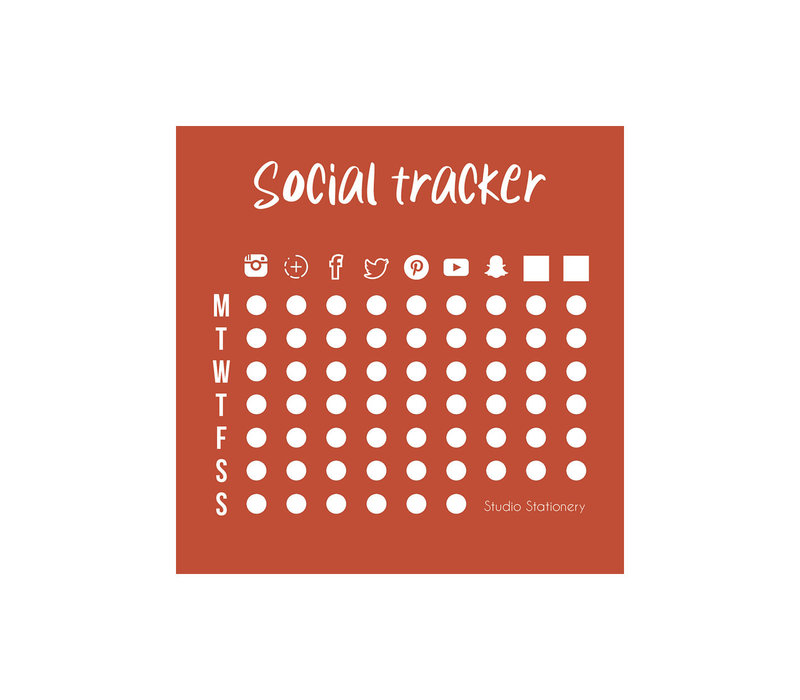 Mini Social Tracker - Notitieblokje
