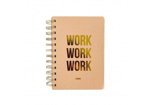 Planner Work Work Work Blush