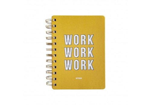 Notebook Work Work Work Yellow
