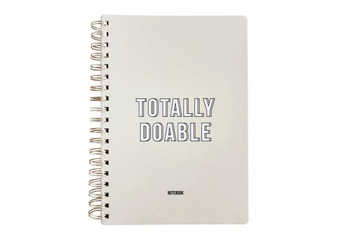 Notebook Totally Doable Off White