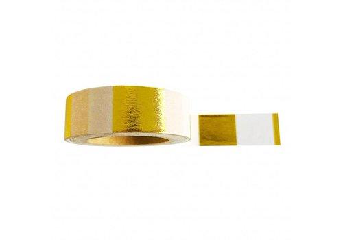Washi Tape Goldfoil White