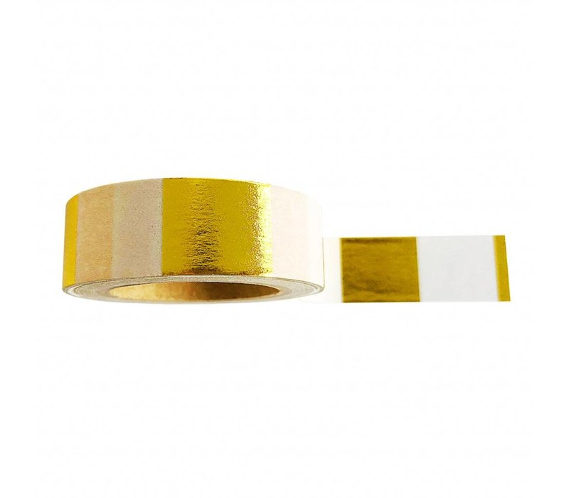 Washi Tape - Goldfoil White