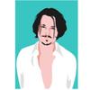Decadence Ansichtkaart Johnny Depp
