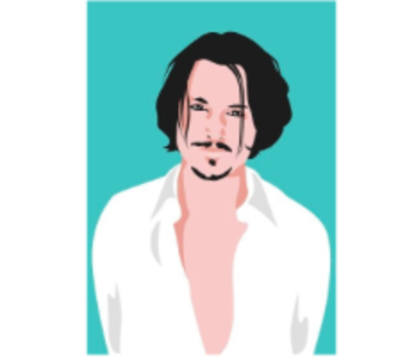 Ansichtkaart Johnny Depp