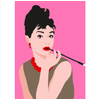 Decadence Ansichtkaart Audrey Hepburn