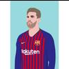 Decadence Ansichtkaart Lionel Messi