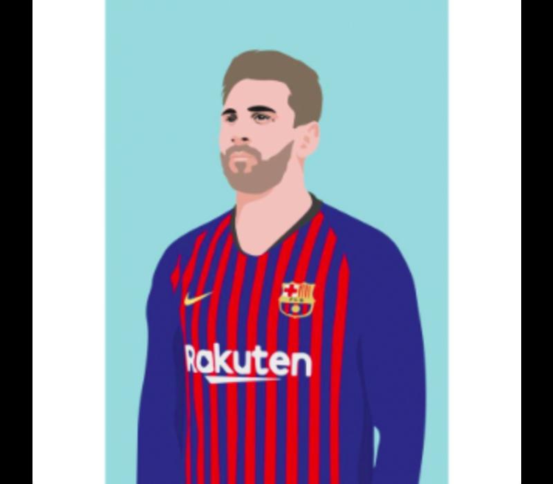 Ansichtkaart Lionel Messi