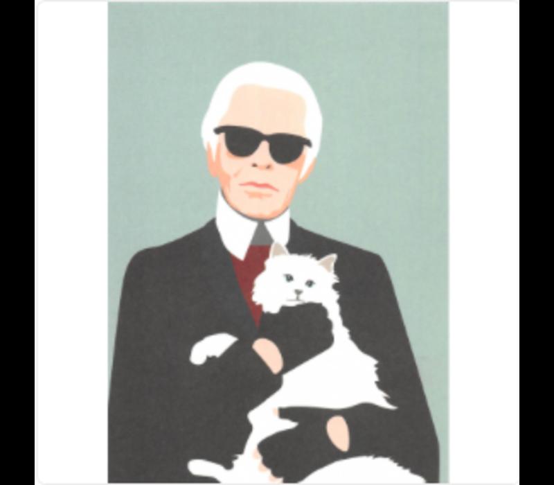 Ansichtkaart Karl Lagerfeld