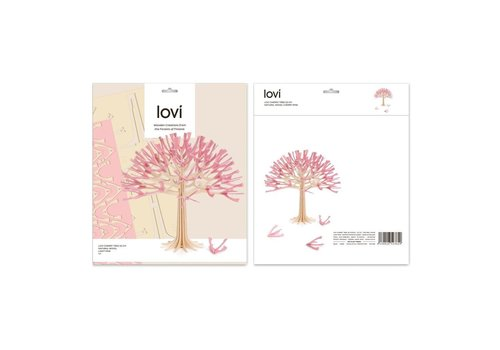 Lovi Season tree 11,5cm cherry pink