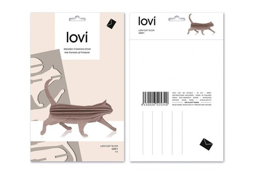 Lovi Cat 12cm grey