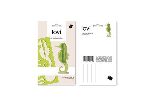 Lovi Seahorse 8cm light green