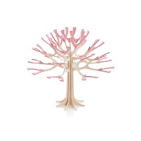 Wenskaart 3D boom naturel rose