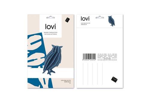 Lovi Owl 9,5cm dark blue