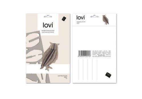Lovi Owl 9,5cm grey