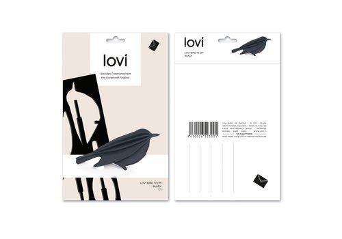 Lovi Bird 12cm black