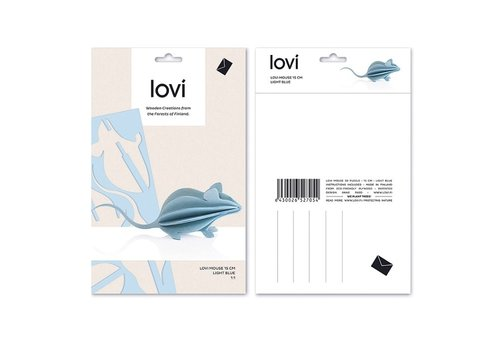 Lovi Mouse 15cm light blue