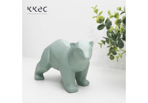 Present Time Statue Origami Bear Small Jade Beer groen