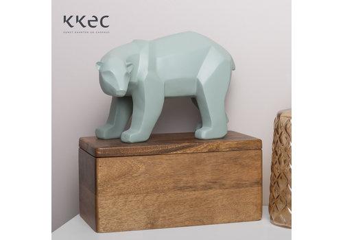 Present Time Statue Origami Bear Large Jade Beer groen