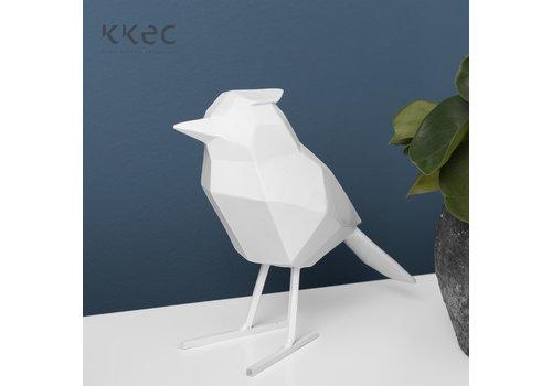 Present Time Statue Origami Bird Large Matt White  Vogel