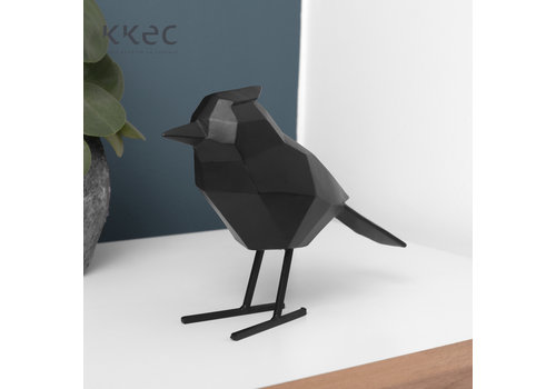 Present Time Statue Origami Bird Large Matt Black