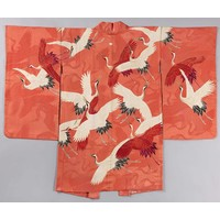 Polysther opvouwbare tas White and Red Cranes
