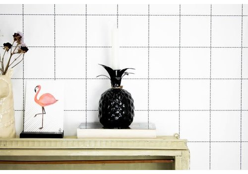 Housevitamin Pineapple Candle Holder Black13x13x16