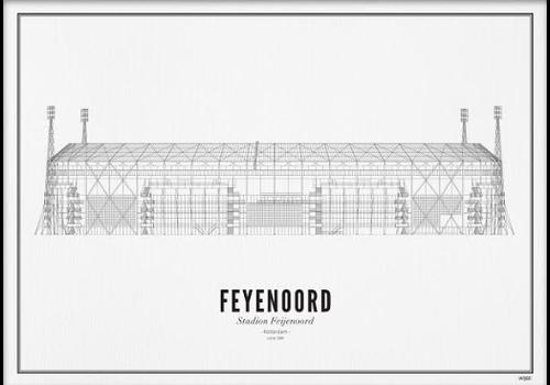 Wijck Poster A4 -Stadion Feyenoord