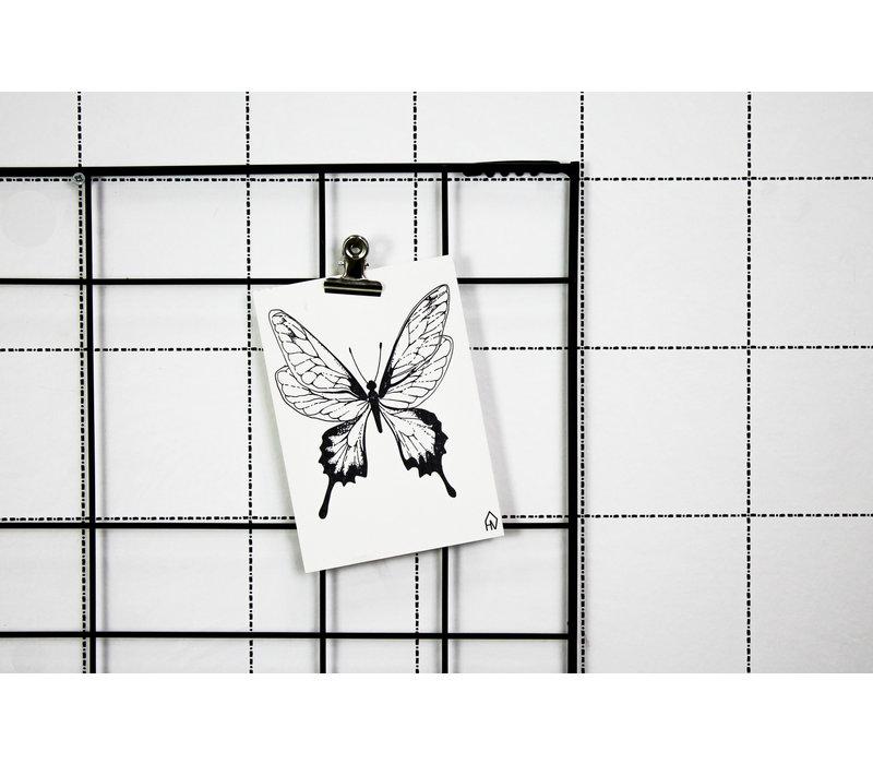 Ansichtkaart  Butterfly