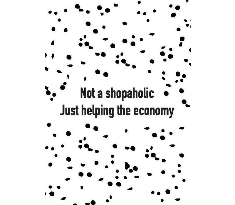 Ansichtkaart Not a Shopaholic