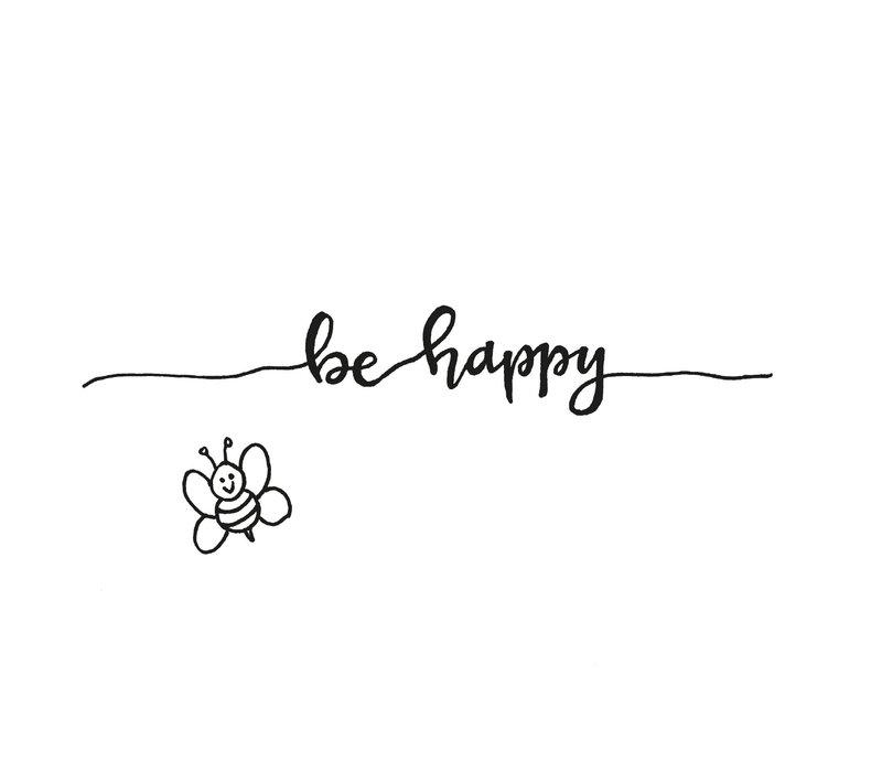 Ansichtkaart Be Happy