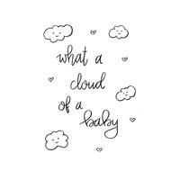 Ansichtkaart What a cloud of a baby