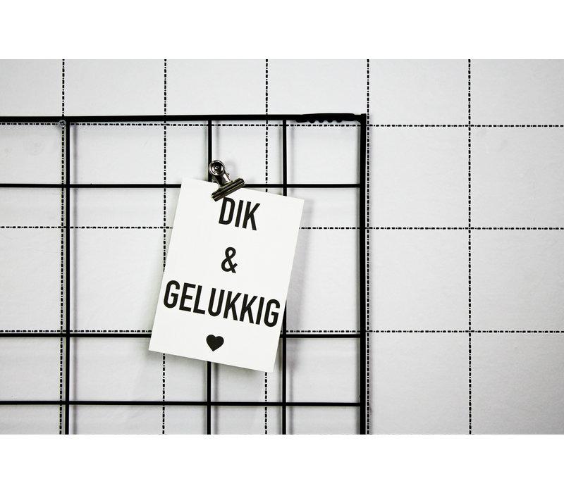 Ansichtkaart Dik & Gelukkig