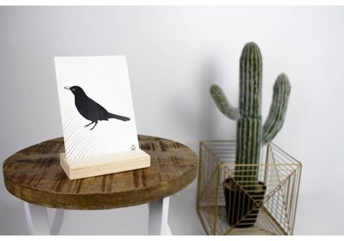 Housevitamin Postcard: Blackbird