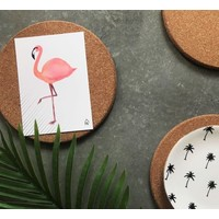 Ansichtkaart  Flamingo