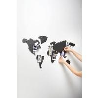Mappit Titanium Metalen Wereldkaart