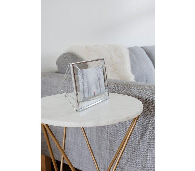 Prisma- fotolijst 10x15cm chroom